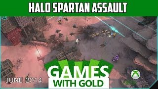 Halo Spartan Assault Gameplay -  Xbox Games with Gold - June 2014