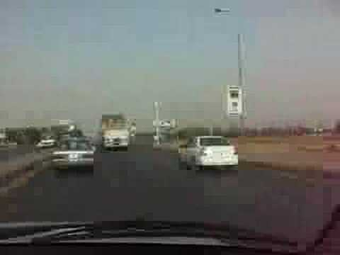 Driving from Omdurman to Khartoum Sudan
