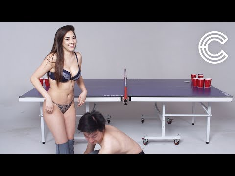 Strangers Play Fear Pong (Emily Vs. Kenny) | Fear Pong | Cut