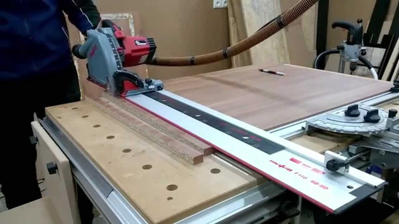 mafell mt55cc results on cheap melamine - youtube