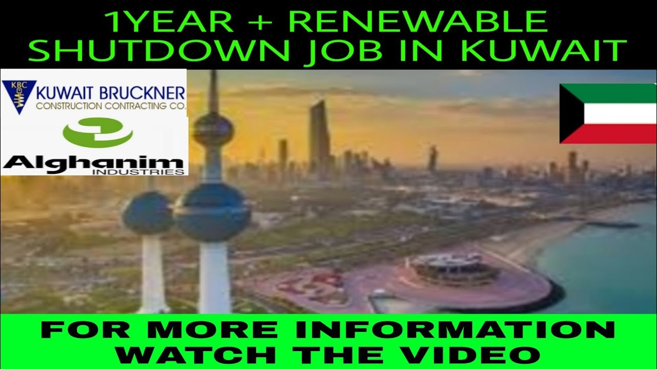 Shutdown job in Kuwait | shutdown vacancy in alghanim | shutdown