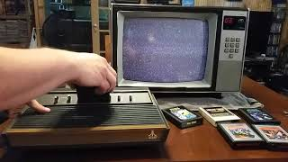Let's play an Atąri 2600 VCS on a still working 1984 JCPenney CRT TV! - Model #685-2042J