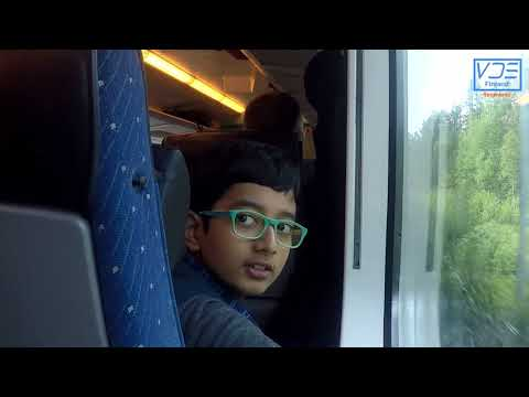 Finland Train Journey from Helsinki to Rovaniemi (VR)