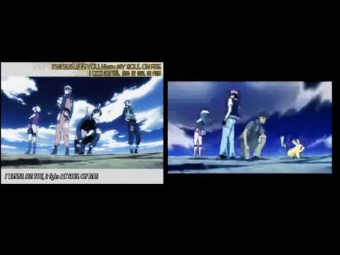 Naruto Shippuden and Pokemon Distance opening side by side.
