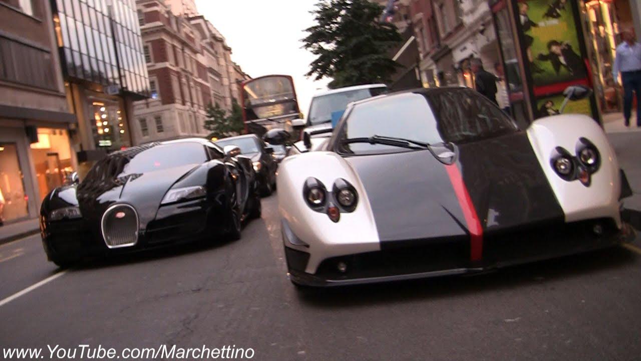 Two Girls Wallpaper Bugatti Veyron Super Sport Vs Pagani Zonda Cinque Roadster
