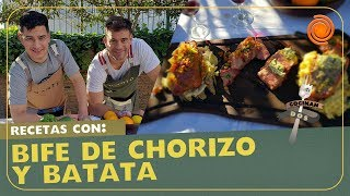 CocinanDos: Hoy Bifes de Chorizo con Batatas