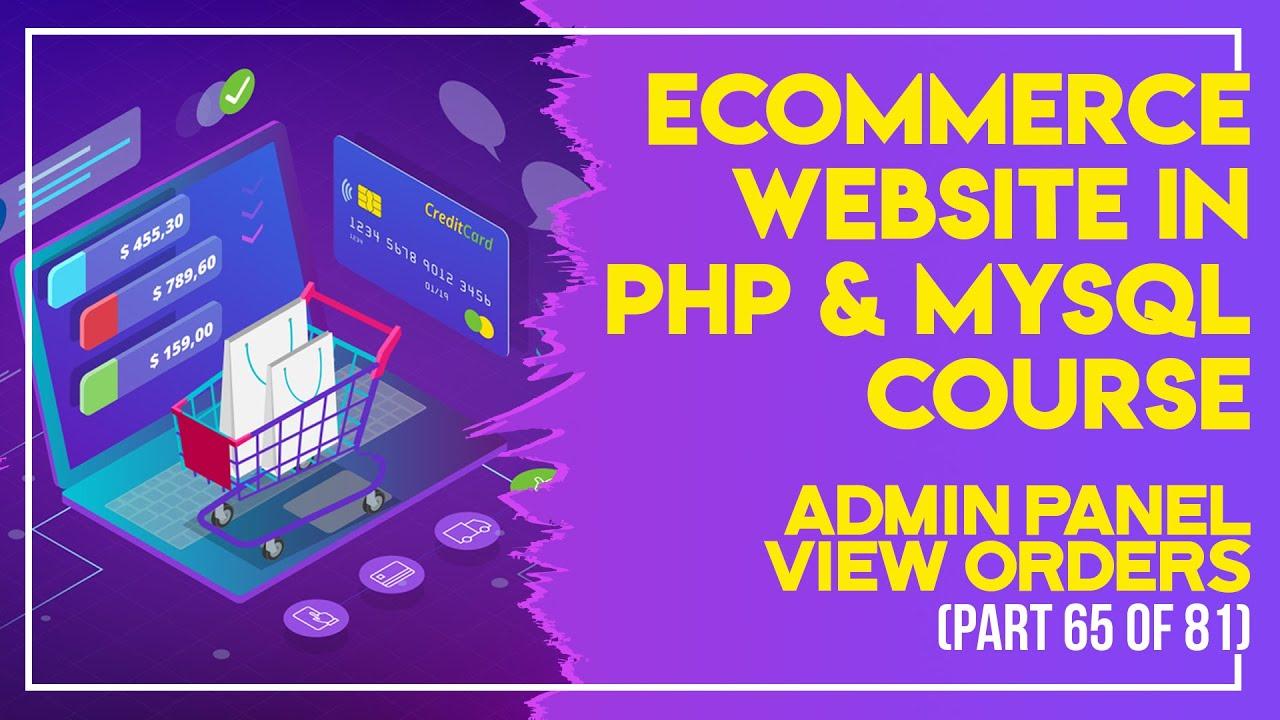 E-Commerce website in PHP & MySQL in Urdu/Hindi part 65 admin panel view customers