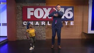 "Fox News 46 Charlotte * Woah Challenge * Nick Kosir * Mykesha ""Keeshlinooo"" Smith"