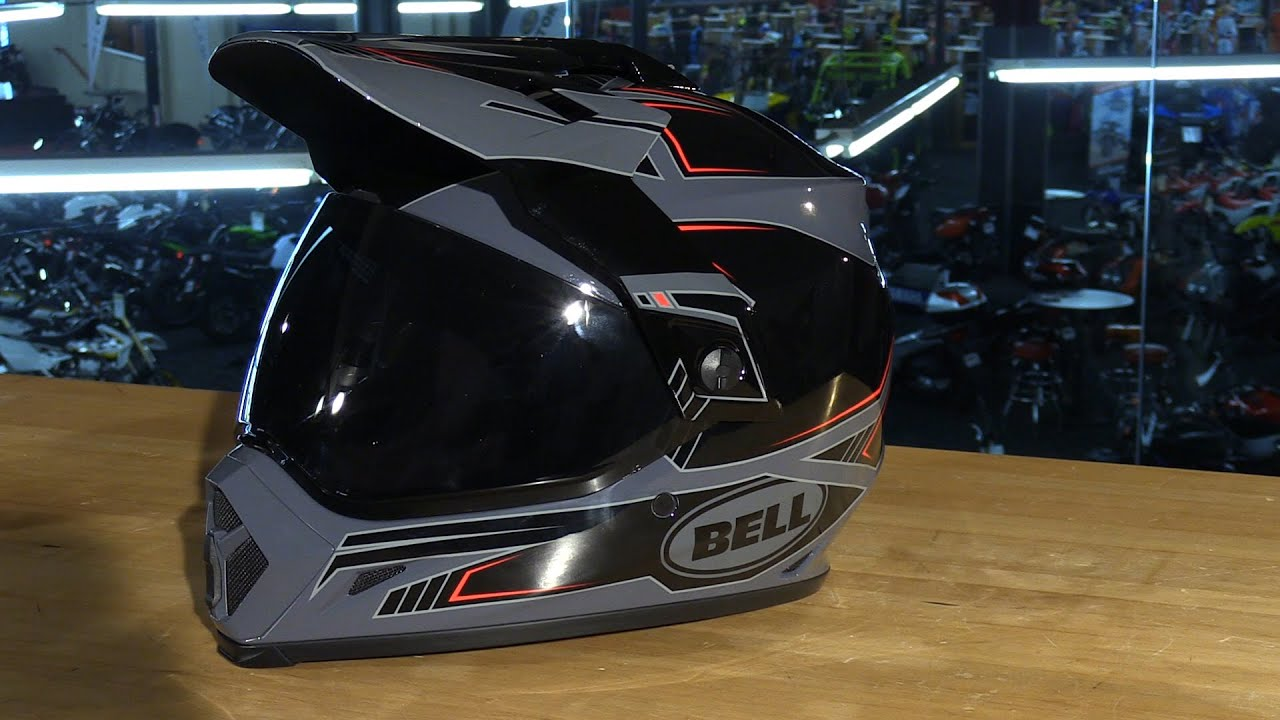 bell helmets mx 9 adventure motorcycle helmet review youtube. Black Bedroom Furniture Sets. Home Design Ideas