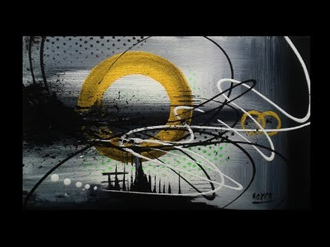 Abstract Acrylic Painting Demo Video - Alchemy by Roxer Vidal