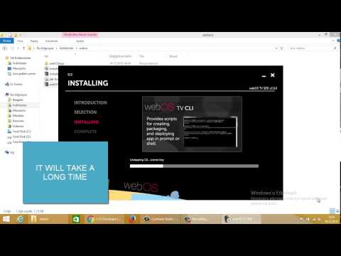 LG WebOS SDK Installing (Setup Webos IDE)