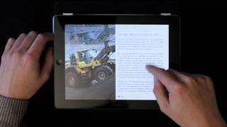Volvo Spirit magazine iPad app -- Volvo CE and the future of road machinery