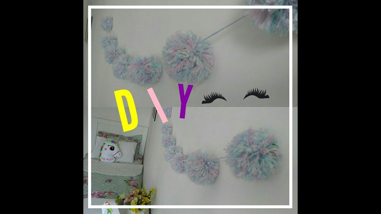 20666c37bbaa8 DIY  Cordão de pompom para decorar o quarto. - YouTube