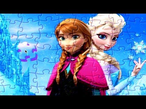 Jogo de Quebra Cabeça infantil jogos online Frozen Ana e Elsa portugues colors for kids friendly