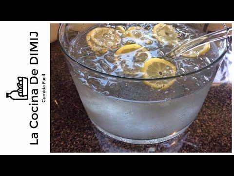 Como preparar agua de chia con limon para adelgazar