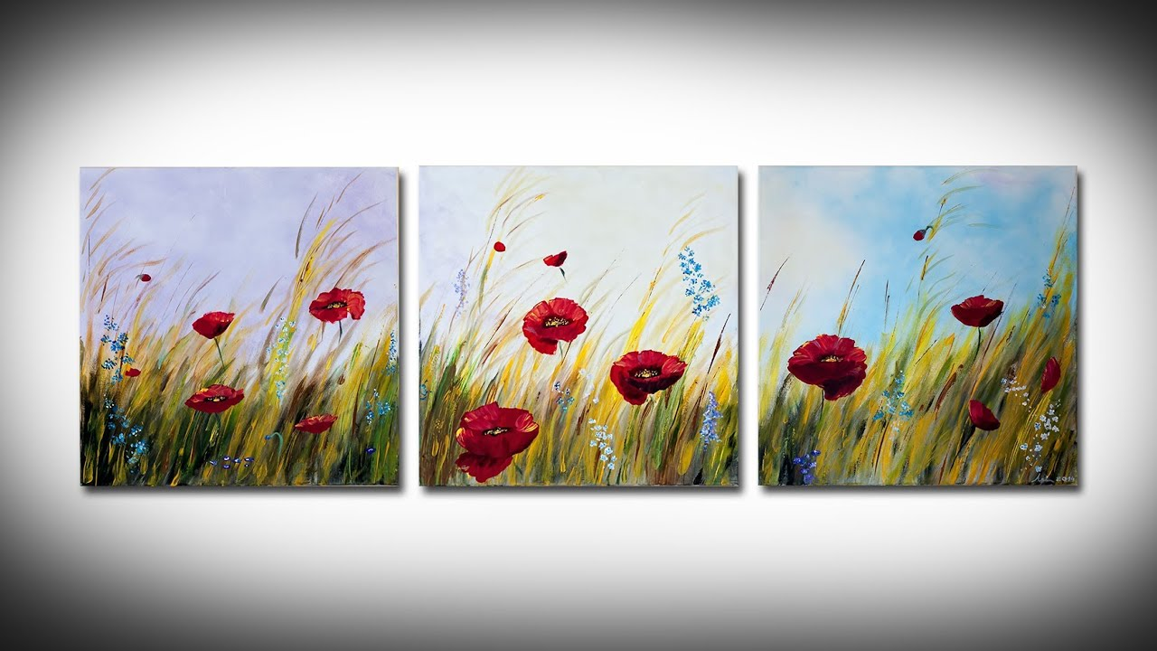 Simple poppies painting youtube simple poppies painting mightylinksfo