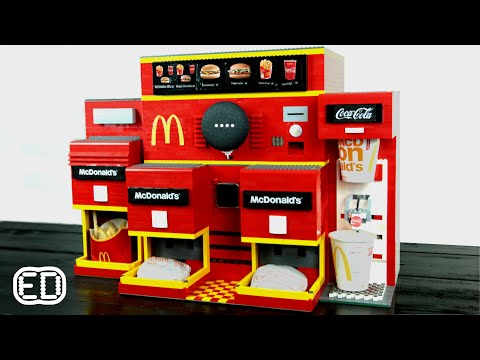 Lego McDonald's Google Assistant Automated Vending Machine