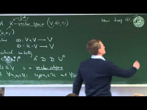 Tensor space theory I: over a field - Lec 08 - Frederic P Schuller