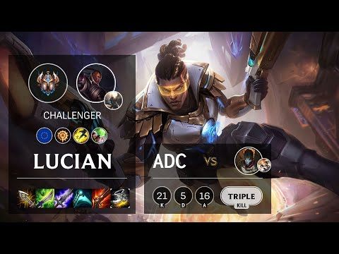 Lucian ADC vs Jhin - EUW Challenger Patch 10.16