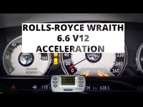 Rolls-Royce Wraith 6.6 V12 632 hp - acceleration 0-100 km/h
