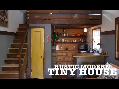 "Garage turned into a TINY HOUSE- ""The Rustic Modern"" in Portland, OR"