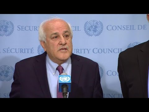 Riyad H. Mansour (Palestine) on the situation in Palestine - Media Stakeout (20 April 2018)