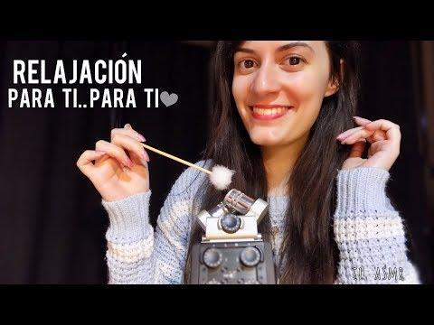 ♡ASMR español♡ RELAJACIÓN PARA TI..PARA TI♥ (agua,tickle,ear pick,cotton swabs,mariposas del sueño)