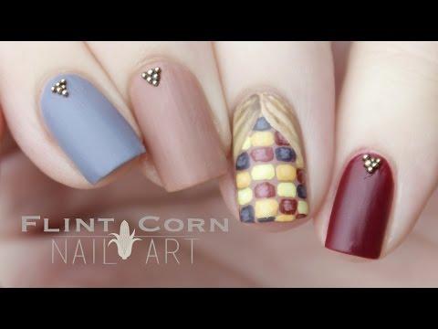 "Flint ""Indian"" Corn   Nail Art"