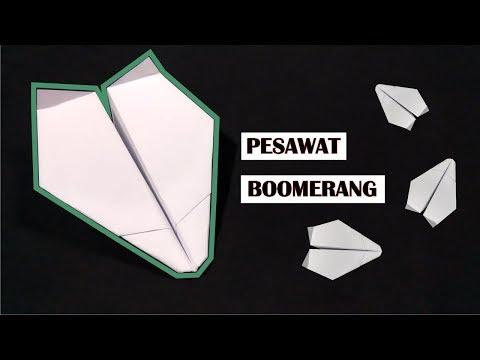 Serius.. INI BISA TERBANG BALIK - Pesawat Kertas Boomerang (Ke.2)
