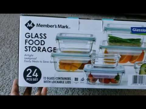 unboxing-&-review-of-member's-mark-24-piece-glass-food-storage-set-by-glasslock
