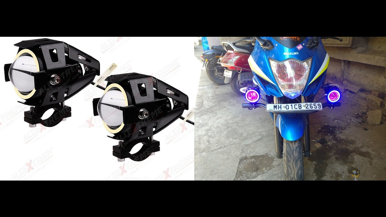 How To Install U7 Led Projector Fog Lights With Angel Eye
