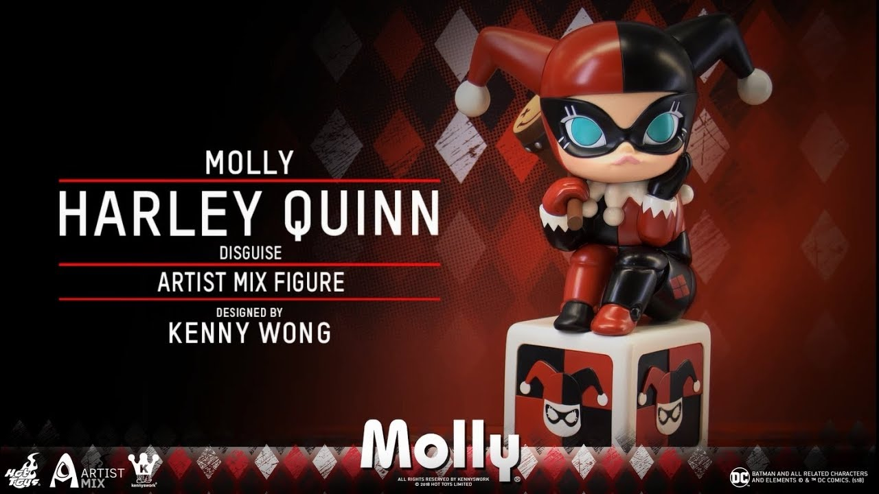 d6c798afebcb7 Artist Mix Series: Molly (Harley Quinn Disguise) by Kenny Wong x Hot Toys @  Shanghai Toy Show 2018