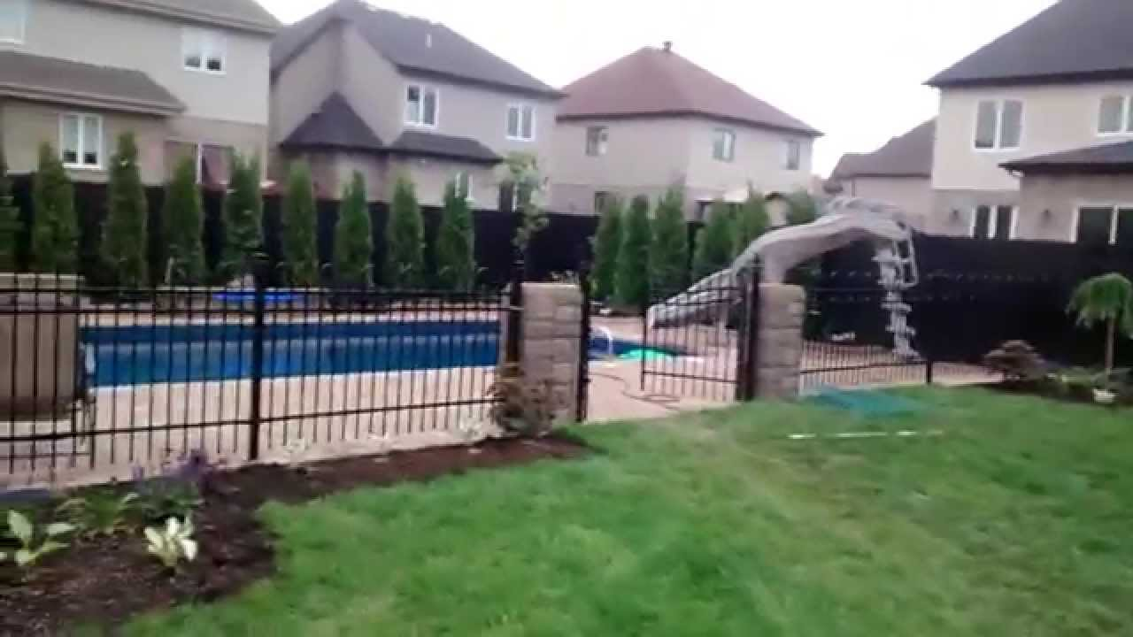 Am nagement paysager ext rieure for Piscine jardin youtube