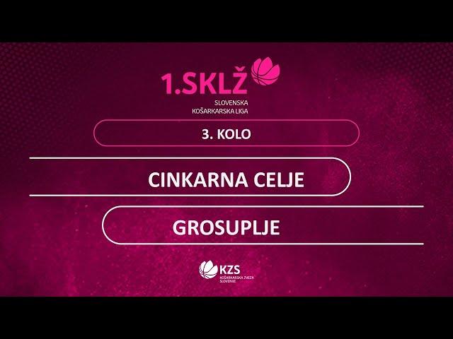 Cinkarna Celje : Grosuplje - 3. kolo - 1. Ž SKL - Sezona 2020/21 - 1/2