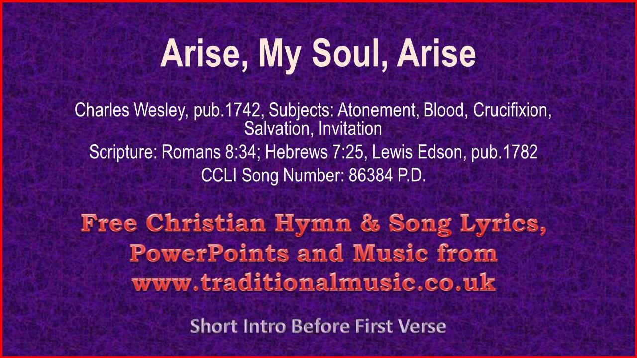 Arise my soul arise hymn lyrics music youtube stopboris Gallery