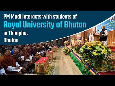 PM Modi interacts with students of Royal University of Bhutan in Thimphu, Bhutan | PMO