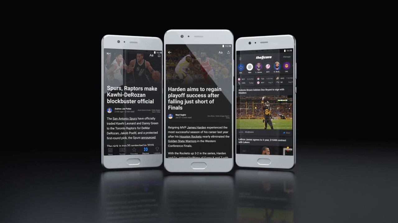 theScore: Sports scores, stats and news!