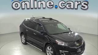 C97601TA Used 2016 Chevrolet Traverse LTZ AWD SUV Black Test Drive, Review, For Sale