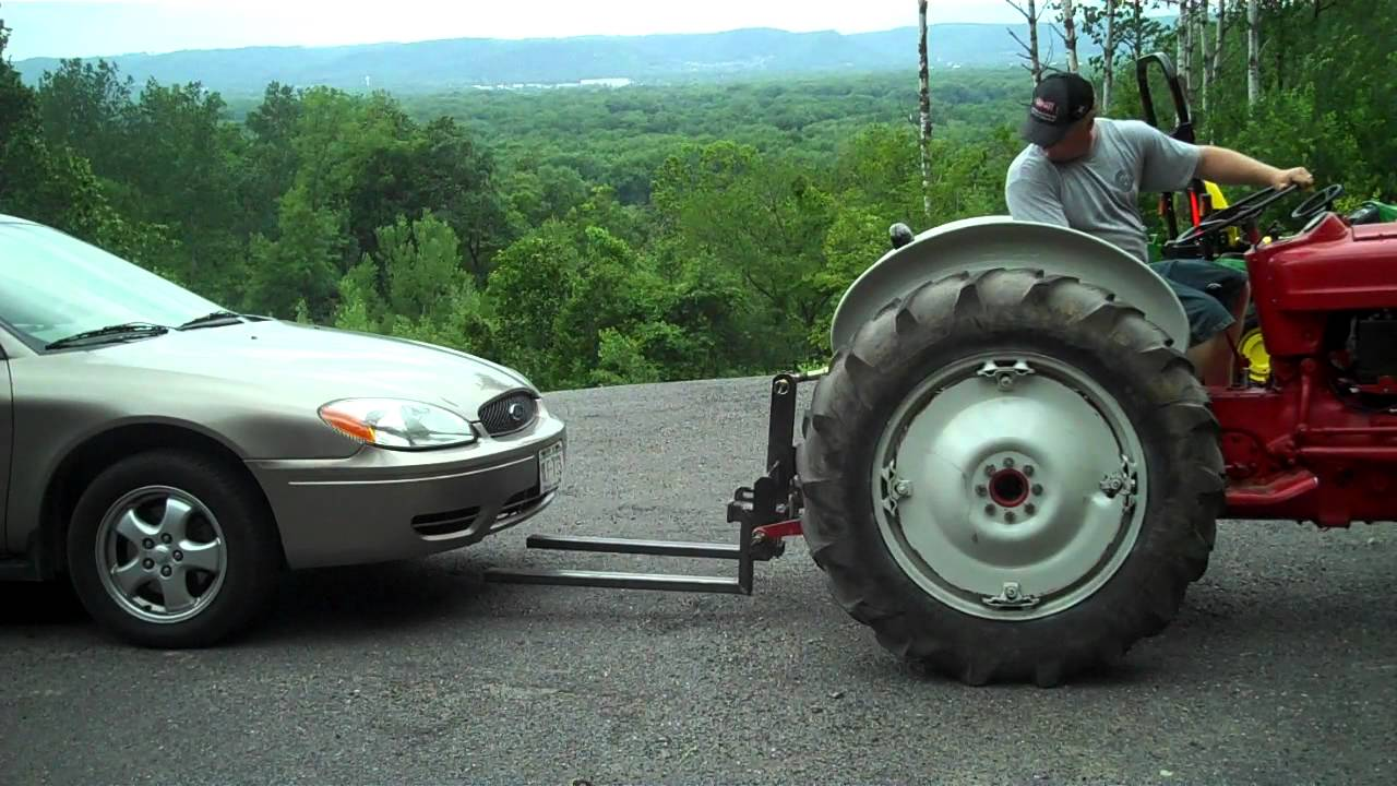 3 Point Hitch Forks : Heavy hitch point fork lift attachment lifting car youtube