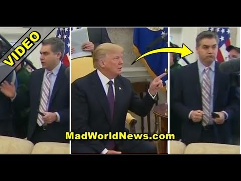 SMUG CNN REPORTER KEEPS YELLING QUESTIONS AT TRUMP THEN POTUS SILENCES HIM WITH ONE WORD!