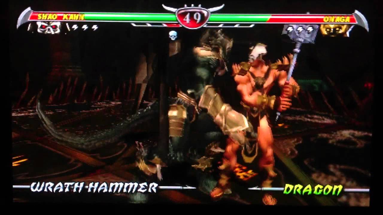 Mortal Kombat Unchained on Vita - Onaga vs Shao Kahn ...