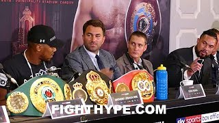 Video ANTHONY JOSHUA AND JOSEPH PARKER EXCHANGE FINAL WORDS; HOPE TO SHAKE HANDS AFTER FIGHT download MP3, 3GP, MP4, WEBM, AVI, FLV Januari 2018
