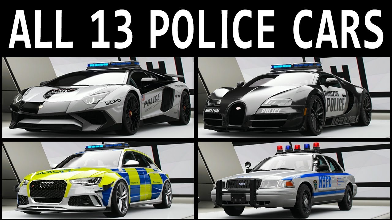 Fh4 Car List 13 police cars you need to drive in forza horizon 4