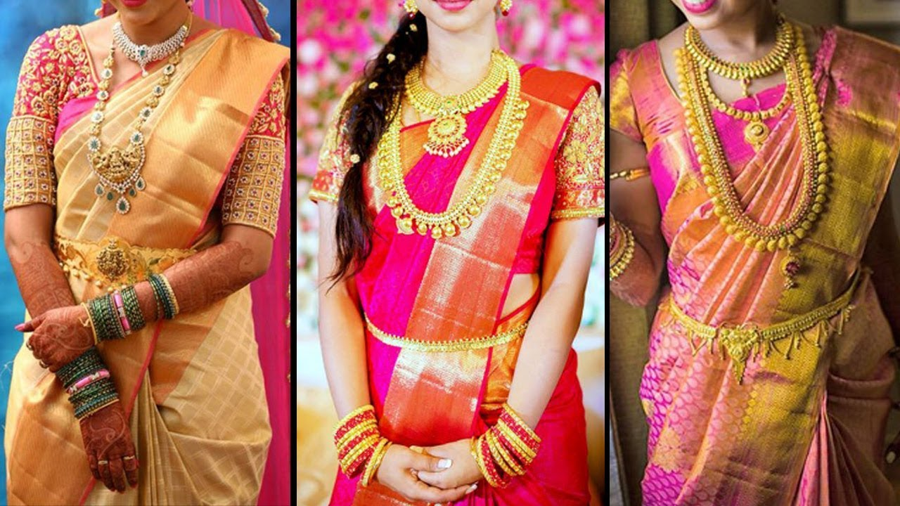 2018 Bridal Pattu Saree Collection 2018 Wedding Silk Sarees Fashion World Saree Draping