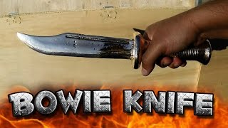 Casting A Bowie Knife Out Of Copper Or Aluminum Bronze Start To Finish