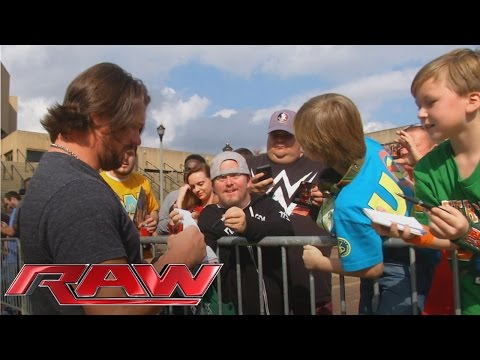 See who was waiting for AJ Styles when he arrived at Raw: February 1, 2016