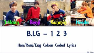Video B.I.G - 1 2 3 Han/Rom/Eng Colour Coded Lyrics download MP3, 3GP, MP4, WEBM, AVI, FLV Januari 2018