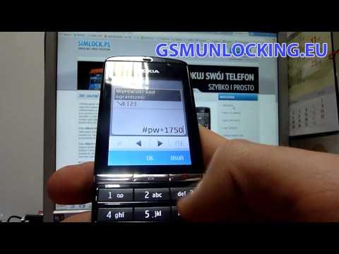 How to UNLOCK NOKIA Asha 300 via code - How to Enter Code