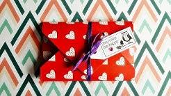 Basteln: Gutschein verpacken - Valentinstag - Geschenkidee / DIY Basteln mit Papier