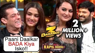 Salman Khan MAKES FUN Of Saiee, Sonakshi On The Kapil Sharma Show Dabangg 3 Episode